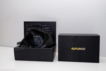 Beautiful packaging for the Gariz half case!